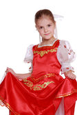 Young girl dance in Russian nationality — Stock Photo