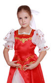 Girl dance in Russian national suit — Stock Photo