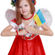 Stock Photo: Angel girl in national Ukrainisuit