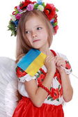 Girl in a national Ukrainian suit — Stock Photo