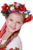 Girl in a Ukrainian national costume — Stock Photo