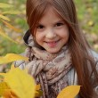 Little girl at autumn park — Stock Photo #35943867