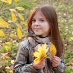 Little girl at autumn park — Stock Photo #35944031