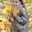 Stock Photo: Little girl at autumn park