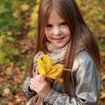 Girl in autumn time — Stock Photo #35944721