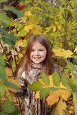 Fille en automne — Photo