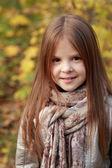 Dívka v podzimním čase — Stock fotografie