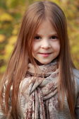 Girl in autumn time — Stock Photo
