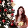Stock Photo: Womover Christmas tree