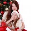 Lovely family portrait on Christmas — Stock Photo