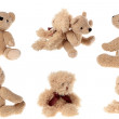 Lovely teddy bear isolated over white — Stock Photo