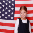 Girl with american flag — Stock Photo #39497769