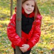 Girl at autumn park — Stock Photo #39501789