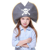 Girl in pirate's costume — Stock Photo