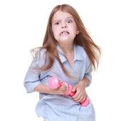 重みでエクササイズの女の子 — ストック写真