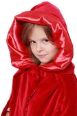 Girl n a Red Riding Hood costume — Stock Photo