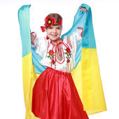 Girl in a beautiful national Ukrainian suit — Stok fotoğraf