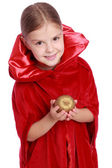 Girl dressed as Little Red Riding Hood — Stock Photo