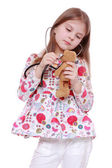 Child playing with toy — Stockfoto