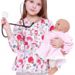 Child playing with toy doll — Stock Photo #40303611