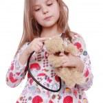 barn leker med leksak — Stockfoto