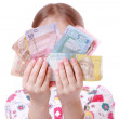 Girl with paper money — Stock Photo #40315217