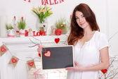 Girl on Valentine Day — Stock Photo