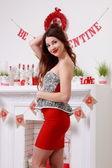 Smiling romantic girl — Stock Photo