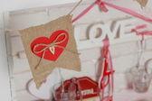 Love shape symbol for decoration — Stock Photo