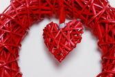 Símbolo de corazón rojo — Foto de Stock
