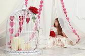 Girl on St.Valentine holiday — Stock Photo
