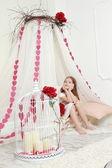 Ragazza in vacanza Valentine — Foto Stock