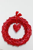 Red heart decoration — Photo