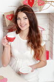 Woman on Valentine's Day — Stock Photo