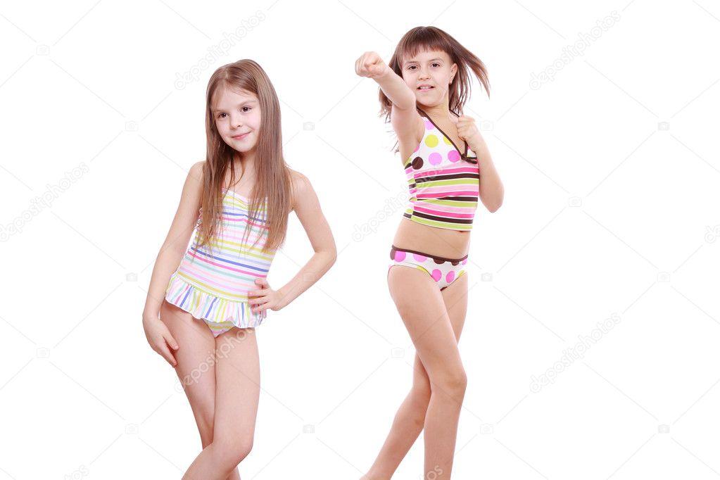 Nude girls at beach