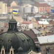 View over the roof of Lviv — Stock Video