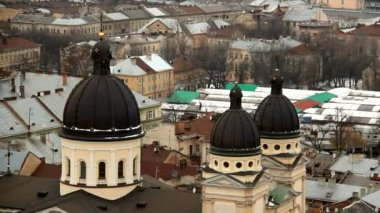 Dome Transfiguration Church In Lviv — Stock Video