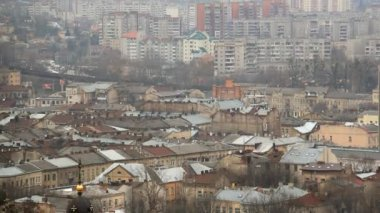 View over the roof of Lviv — Stockvideo
