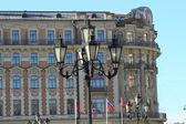 Ulica rocznika latarnia w Moskwie — Zdjęcie stockowe