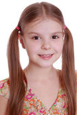 Girl with hairstyle ponytails — Stock Photo
