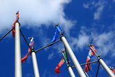 European Flags in Moscow — Stockfoto