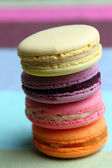 Four Tasty sweet colorful macarons — Foto de Stock
