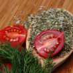 Ripe fresh tomatoes and herbs — Stock Photo #48738297