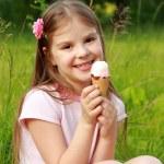 Little girl  with ice cream — Stock Photo #49389805