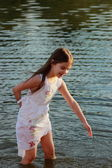 Girl in water — Stock Photo