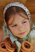 Close up kid portrait — Stock Photo