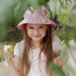Kid with green apple — Stock Photo #51569303