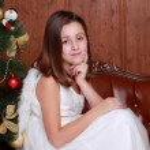 Little girl on Christmas — Stock Photo #51668501