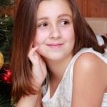 Little girl on Christmas — Stock Photo #51668523