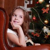 šťastné dítě na vánoce — Stock fotografie